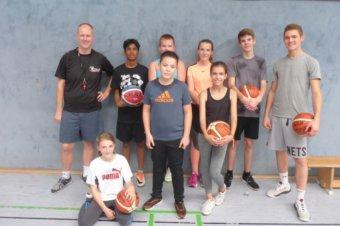 Schnupper-Basketball im Starkenburg-Gymnasium