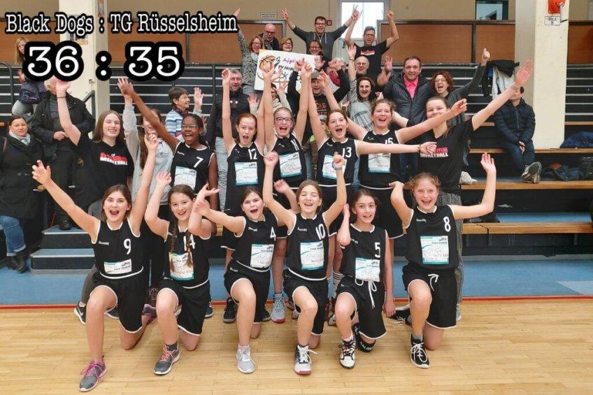 Spannendes Spiel der WU12 gegen Rüsselsheim