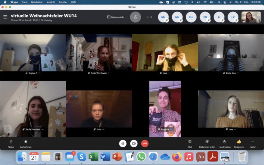 Die virtuelle Weihnachtsfeier der WU14 🏀🎅🏽